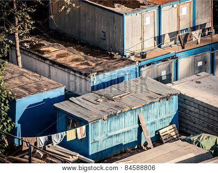 Workmen huts