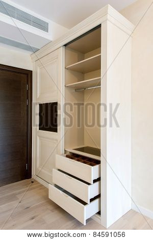 Open Drawer in Empty Room