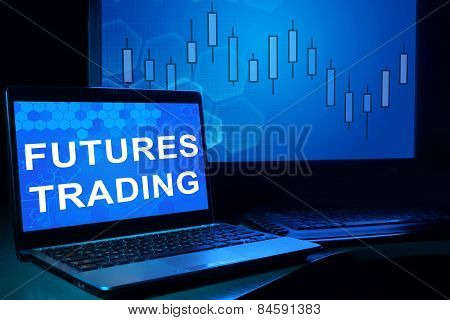 Computer with words futures trading.