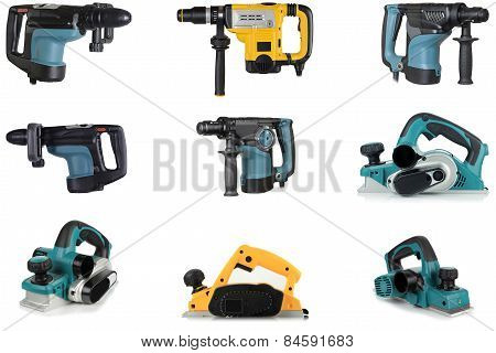 Power Tools, On A White Background.