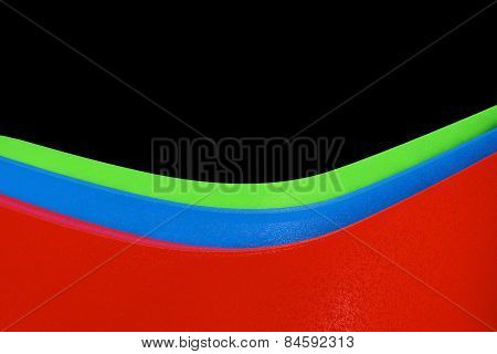 Abstract Wavy Illustration Of The Rgb Colors