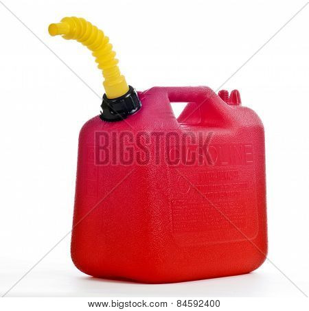 Fuel Can On White Background