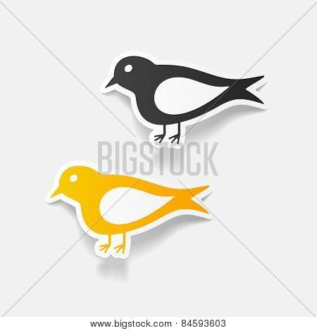realistic design element. bird