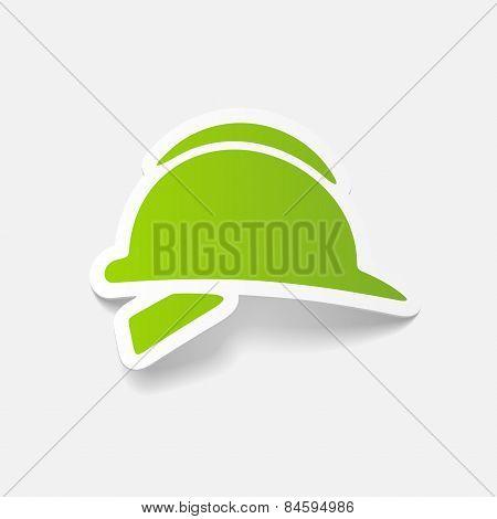 realistic design element. helmet