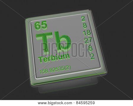 Terbium. Chemical element. 3d