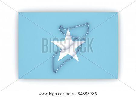 Map of Somalia. 3d