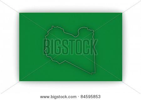 Map of Libya. 3d
