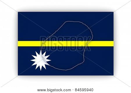 Map of Nauru. 3d