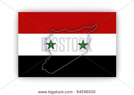 Map of Syria. 3d