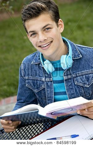 Smiling Teen Student