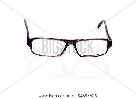 Black Optical Glasses On White