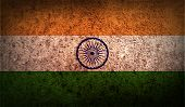 pic of civil war flags  - Flag of India with old texture - JPG