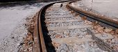 foto of reconstruction  - Reconstruction old tram track on town centre - JPG
