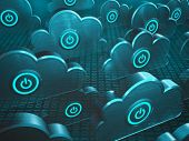 stock photo of clouds  - Image concept of cloud computing - JPG