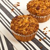 picture of pecan nut  - Crunchy Granola Peach Muffins with Butter Pecan Toppings - JPG