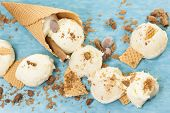 picture of cone  - Vanilla Ice Cream - JPG