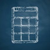 image of subtraction  - calculator icon - JPG