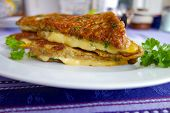 pic of french toast  - French toast with Gouda cheese and herb - JPG
