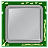 picture of processor  - Modern computer processor on a white background - JPG