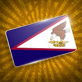 pic of samoa  - Flag of American Samoa with old texture - JPG