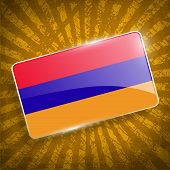 picture of armenia  - Flag of Armenia with old texture - JPG