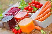 stock photo of orange-juice  - Carrot juice - JPG