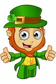 stock photo of leprechaun  - A cartoon illustration of a cartoon little Leprechaun character - JPG