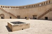 stock photo of oman  - Image of the top of fort Nizwa Oman - JPG
