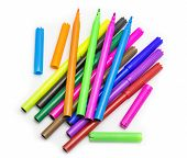 picture of marker pen  - Colorful markers pens Multicolored Felt Pens draw line - JPG