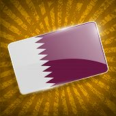 stock photo of qatar  - Flag of Qatar with old texture - JPG