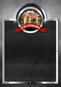 Постер, плакат: Blackboard For Ice Cream Menu