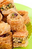 picture of baklava  - Delicious and fresh oriental sweets baklava with nuts - JPG