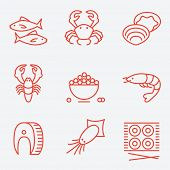 picture of fish icon  - Seafood icons - JPG