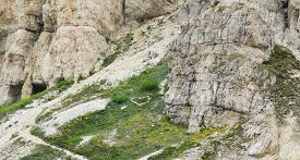 stock photo of feeling better  - With love from Dolomites