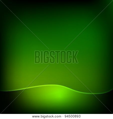 Green wave eco abstract natural background with lights and shado