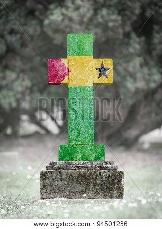 Gravestone In The Cemetery - Sao Tome