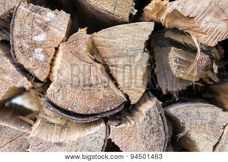 Woodpile detail
