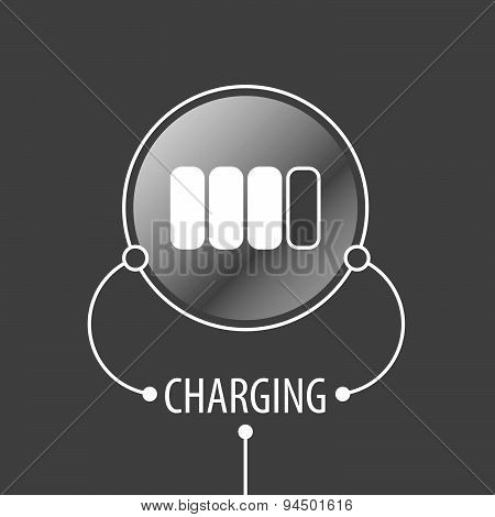 Round Vector Logo Battery Charger