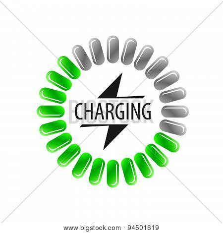 Round Vector Logo Battery Charging