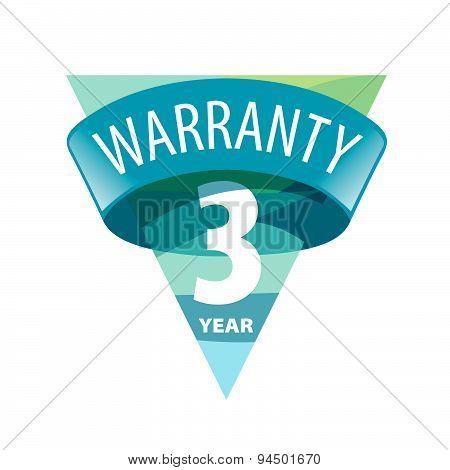 Triangular Vector Logo 3-year Warranty