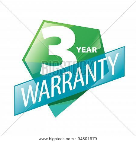 Vector Logo 1, 2, 3 Year Guarantee