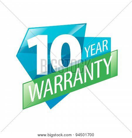 Vector Logo 10 Years Warranty