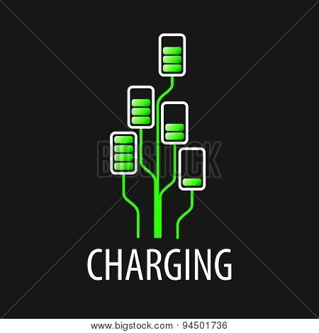 Vector Logo Battery Chargers In A Tree