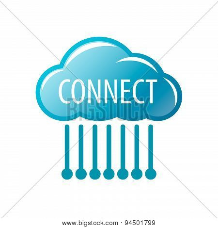 Vector Logo Connect Cloud Chip