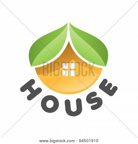 Vector Logo House In The Form Of An Orange