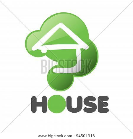 Vector Logo House In The Sign Issue