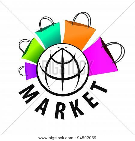 Vector Logo Purchases Of Goods All Over The World