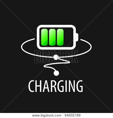 Vector Logo With Green Battery Charging