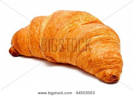 Fresh Perfect Croissant Isolated