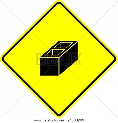 construction block sign